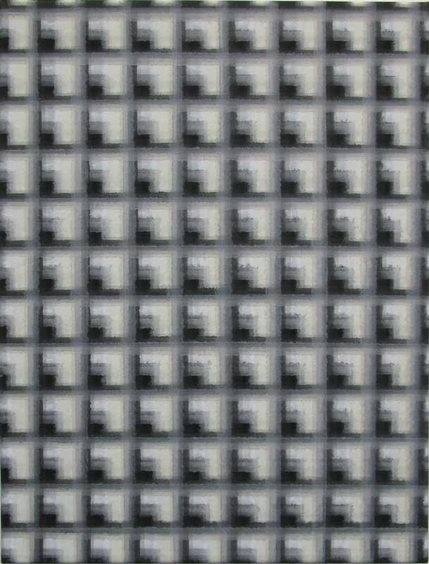 inside outside nr. 1, 2010, 60 x 45 cm, acryl op katoen