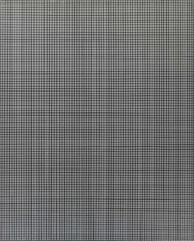 inside outside nr. 10, 2018, 50 x 40 cm, acryl en olieverf op linnen op paneel
