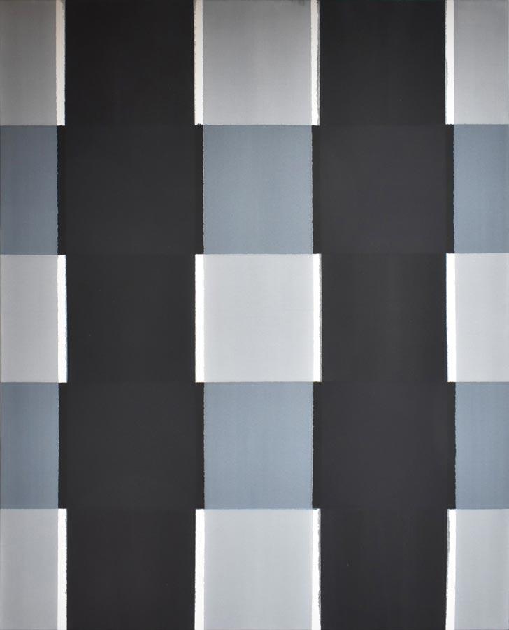 Inside outside nr. 10, 2020, 160 x 130 cm, acryl, pigment op katoen