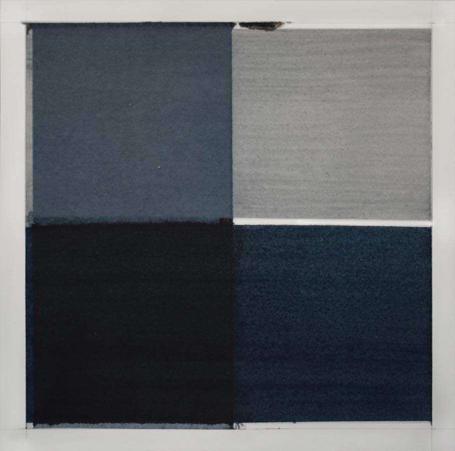 Inside outside nr. 11a, 2020, 25 x 25 cm, waterverf op papier