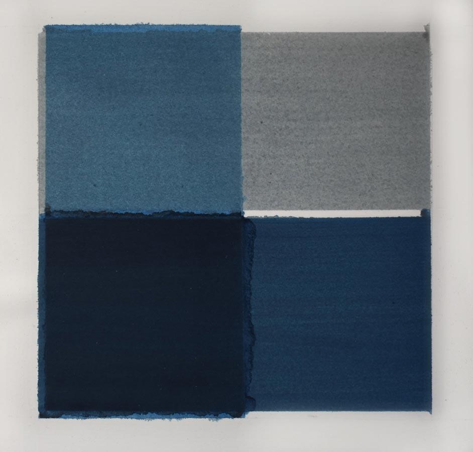Inside outside nr. 12a, 2020, 25 x 25 cm, waterverf op papier