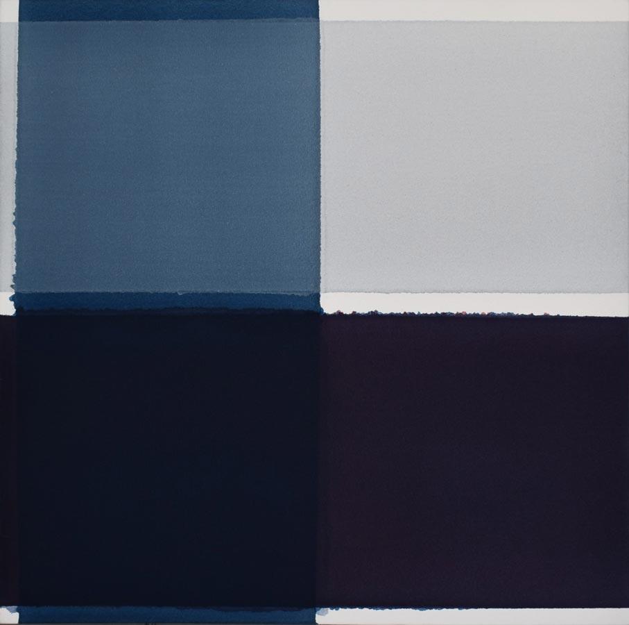 Inside outside nr. 22, 2020, 60 x 60 cm, acryl, pigment op katoen