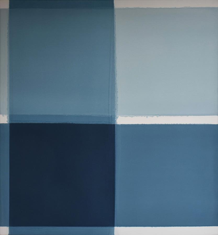 Inside outside nr. 3, 2021, 120 x 110 cm, acryl, pigment op katoen