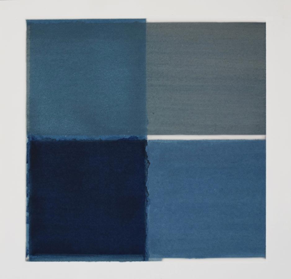 Inside outside nr.13a, 2020, 25 x 25 cm, waterverf op papier