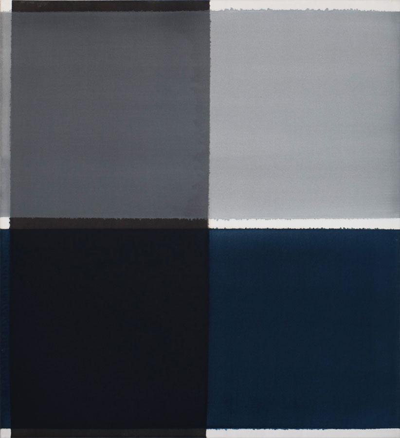 Inside outside nr. 18, 2020, 110 x 100 cm, acryl, pigment op katoen