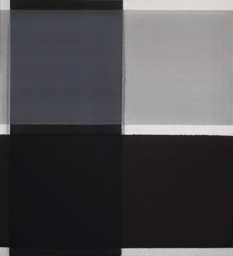 Inside outside nr.19, 2020, 110 x 100 cm, acryl, pigment op katoen