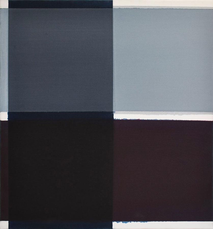 Inside outside nr. 23, 2020, 60 x 55 cm, acryl, pigment op katoen